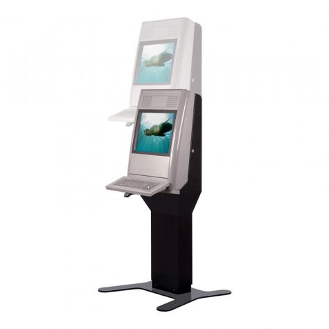 Eagle Shift Terminal mit 19 Zoll Bildschirmdiagonale Höhenverstellbar seitliche Ansicht