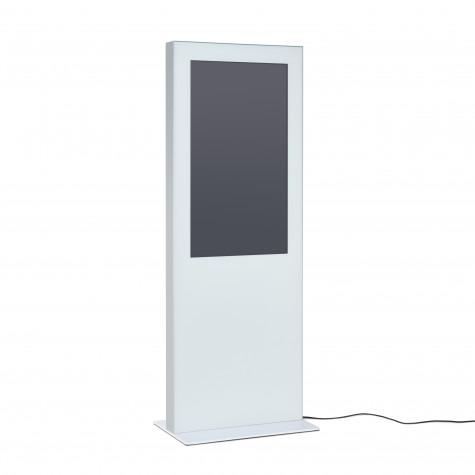 Digitale Infostele - Ansicht (weißes Modell)
