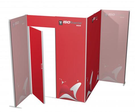 ISOframe wave Lagerraum 1600 x 1600 mm mit Druck