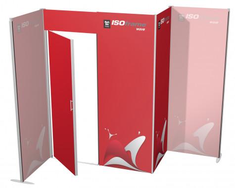 ISOframe wave Lagerraum 1600 x 800 mm mit Druck