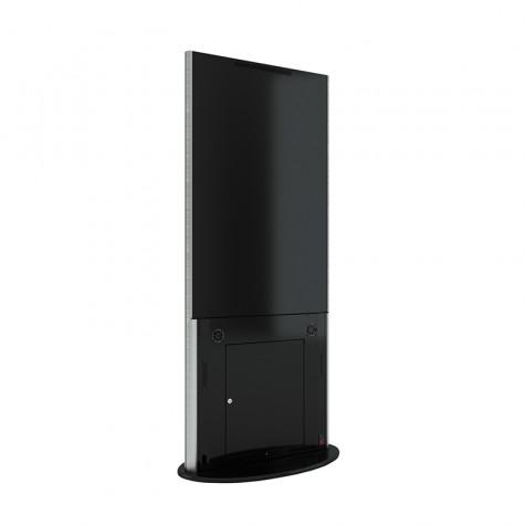 Lamina Stele mit 28 Zoll Bildschirmdiagonale und Touchscreen in schwarz seitliche Ansicht hinten