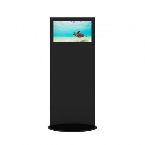 Lamina Stele mit 28 Zoll Bildschirmdiagonale und Touchscreen in schwarz vorne