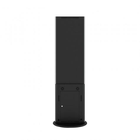 Lamina Stele mit 32 Zoll Bildschirmdiagonale und Touchscreen in schwarz hinten