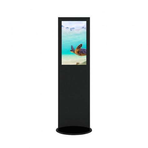 Lamina Stele mit 32 Zoll Bildschirmdiagonale und Touchscreen in schwarz vorne