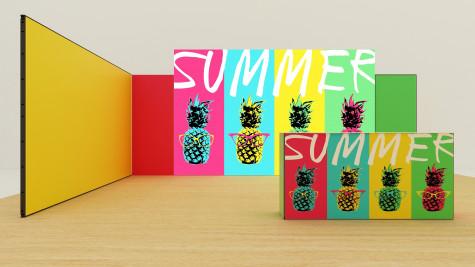 MultiFabric Messestand Summer mit LED