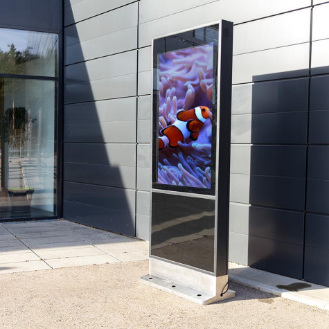 Outdoor Stele mit großem 55 Zoll Bildschirm