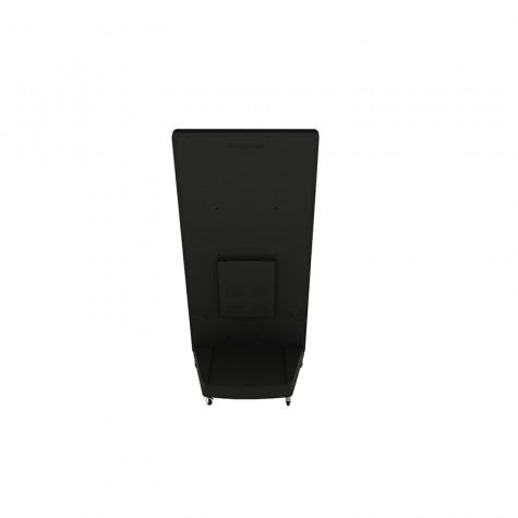 Sandwich Board Stele mit 32 Zoll Bildschirmdiagonale schwarz hinten