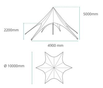 Star Tent Skizze