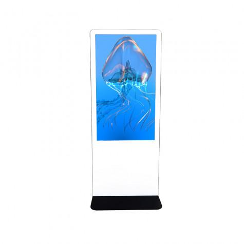 NIOBE Indoor Stele mit 55 Zoll Bildschirm Gesamtansicht