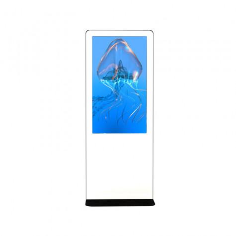NIOBE Indoor Stele mit 49 Zoll Bildschirm Gesamtansicht