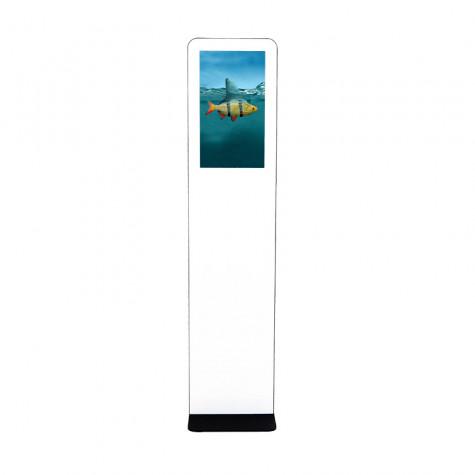 TRINITY Stele Indoor mit Touchscreen und 21,5 Zoll Bildschirm Gesamtansicht