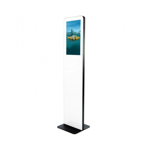 TRINITY Stele Indoor mit Touchscreen und 21,5 Zoll Bildschirm seitliche Ansicht