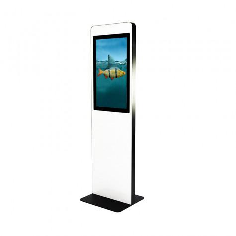 TRINITY Stele Indoor mit Touchscreen und 31,5 Zoll Bildschirm seitliche Ansicht